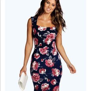 Boohoo Night black floral dress, 6